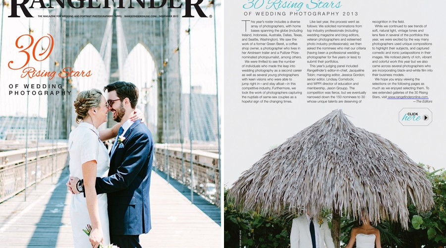 Rangefinder Magazine 30 Rising Stars // And Some Other Fun News // Portland Wedding Photographer