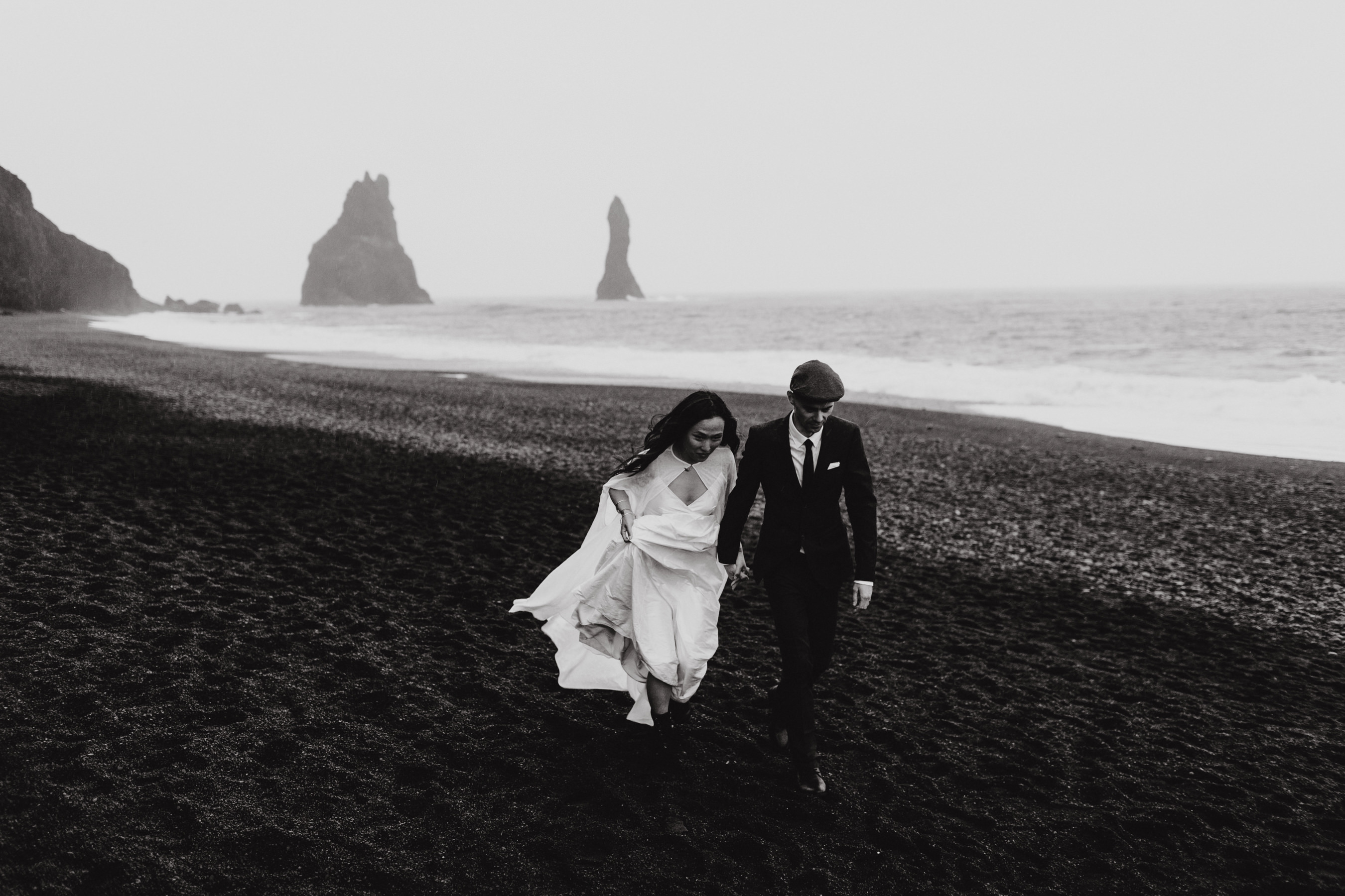 Iceland Elopement Black Sand Beach
