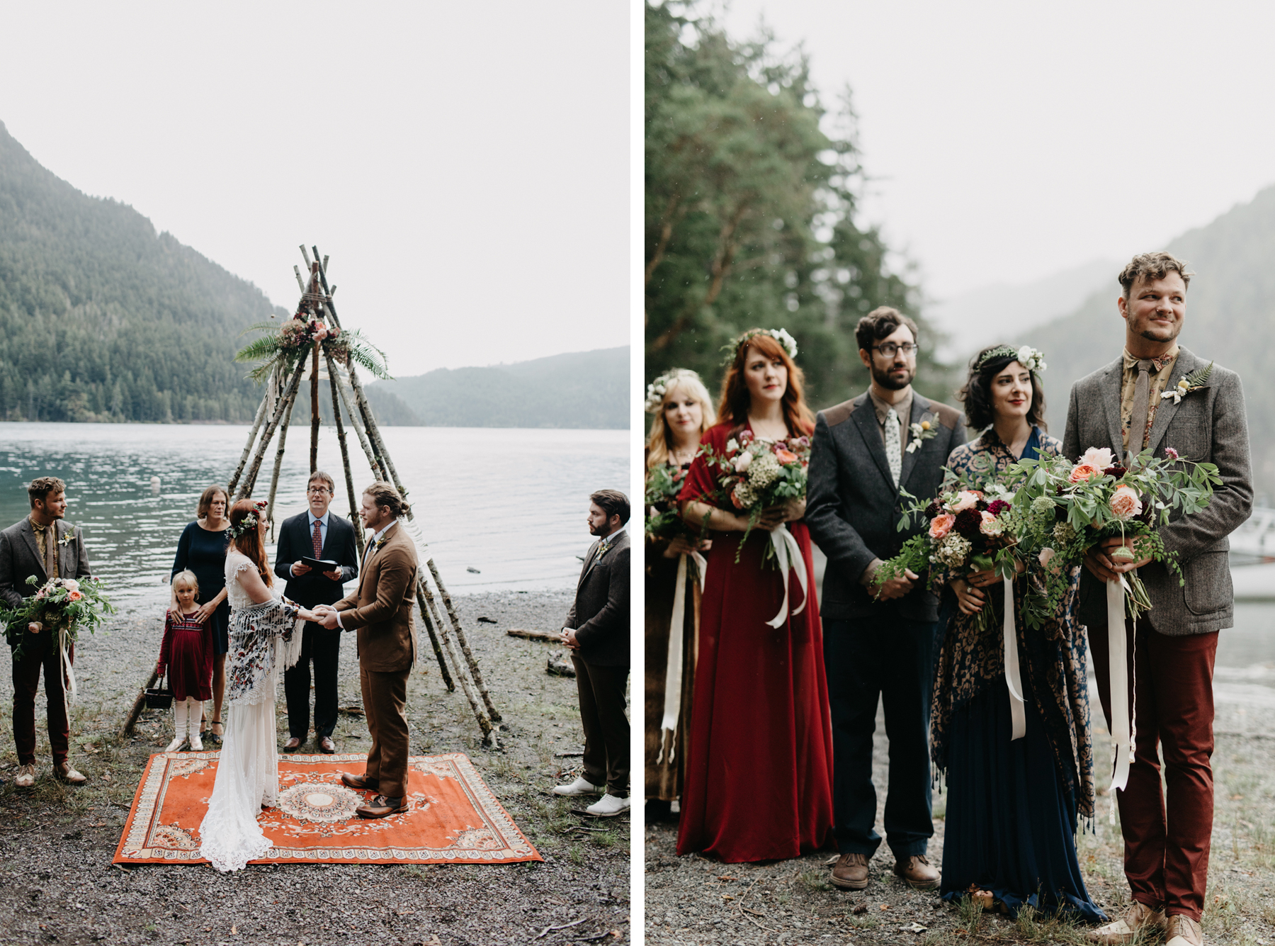 campsite wedding