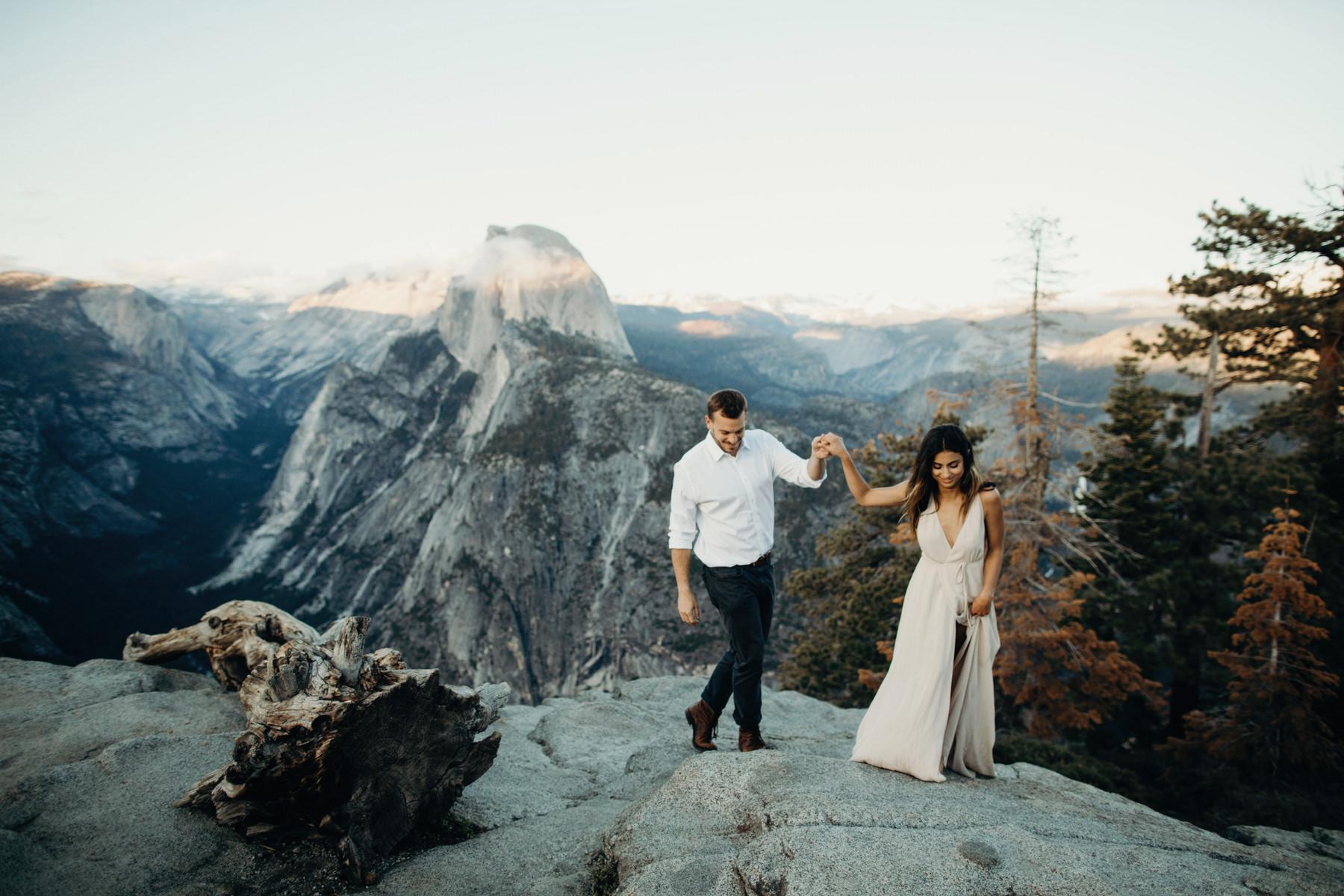 Yosemite Engagement Photos Portland Wedding Photographer