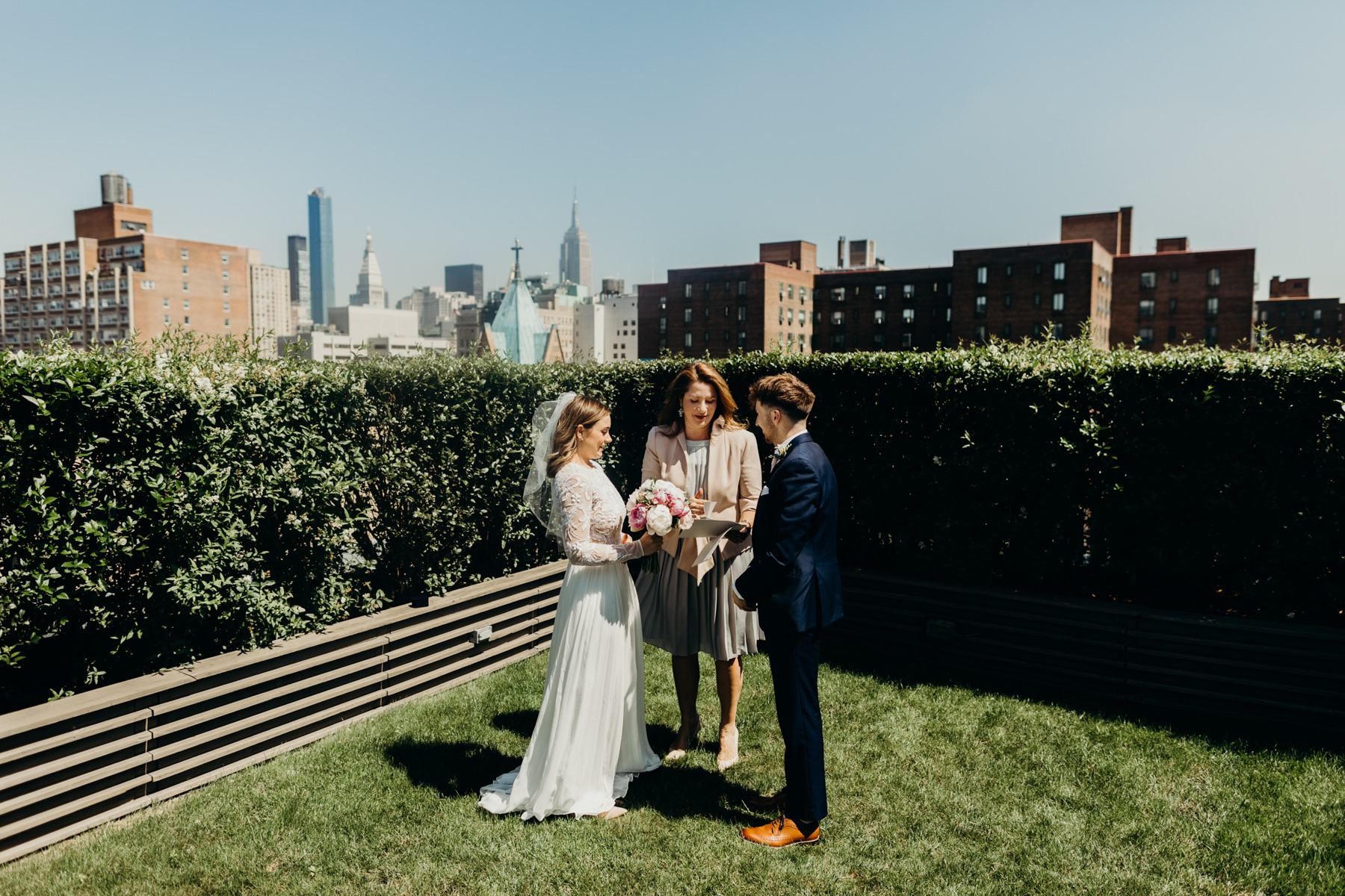 Rooftop ceremony in Manhattan