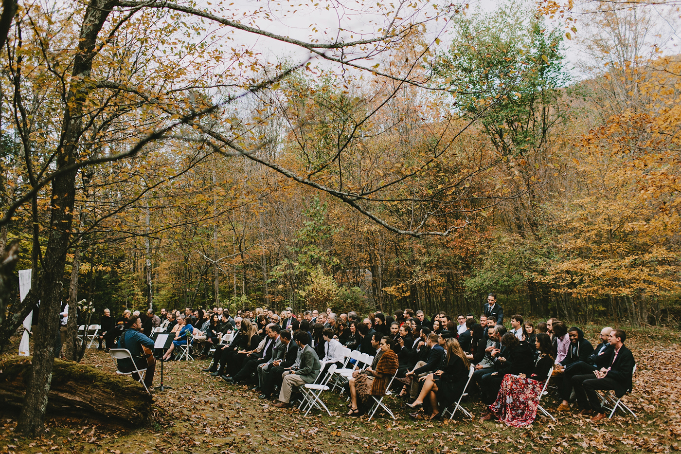 fall autumn wedding ceremony in new york