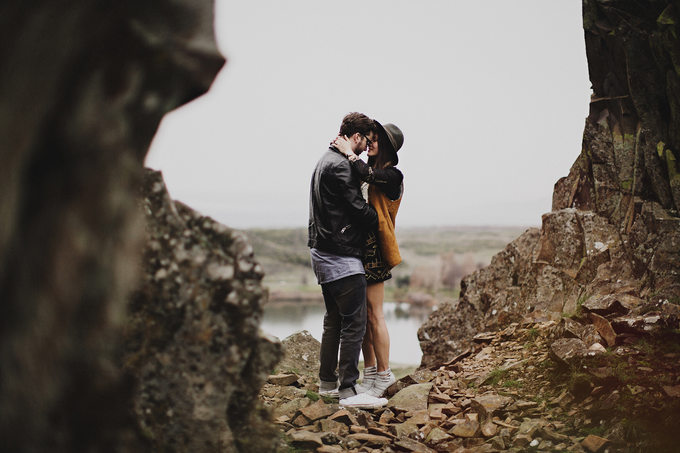 free people inspired engagement photos