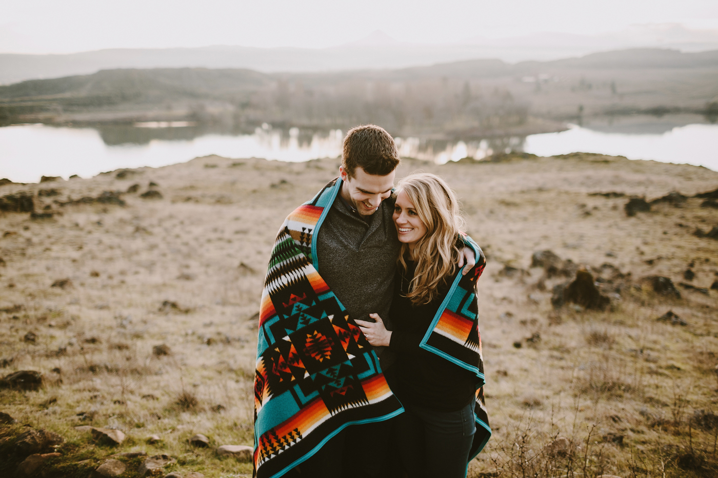 Pendleton Blanket Engagement
