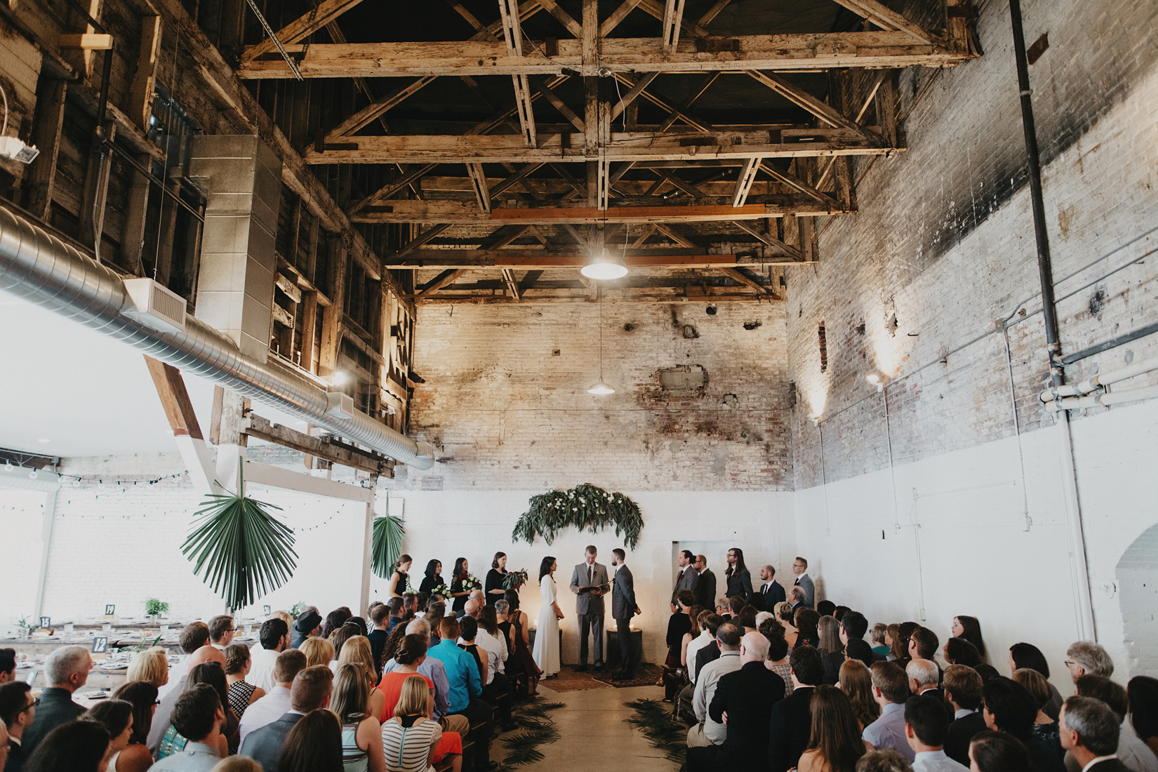 Warehouse Wedding in Portland -126