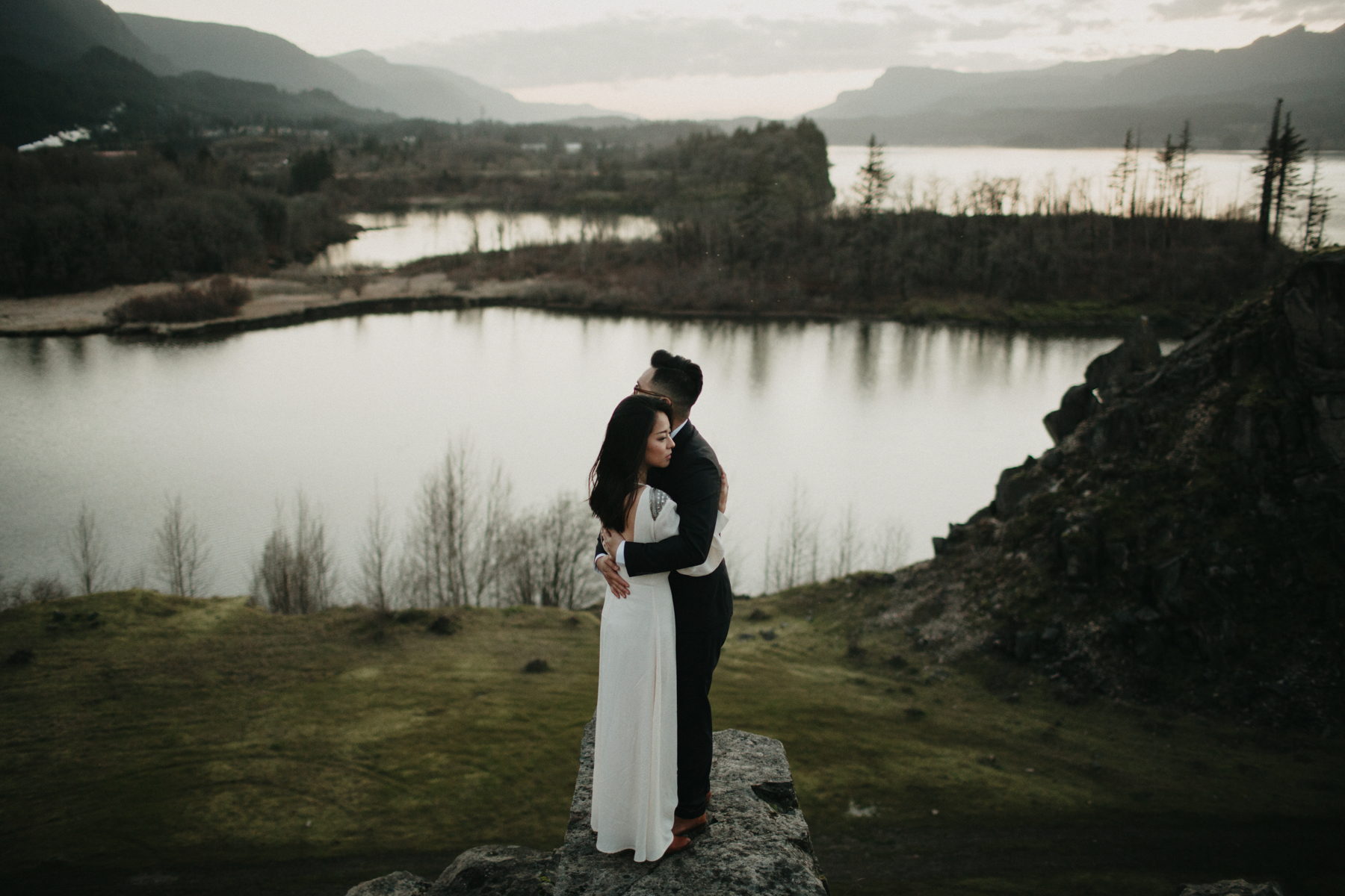 Oregon Mountain Wedding Sunset