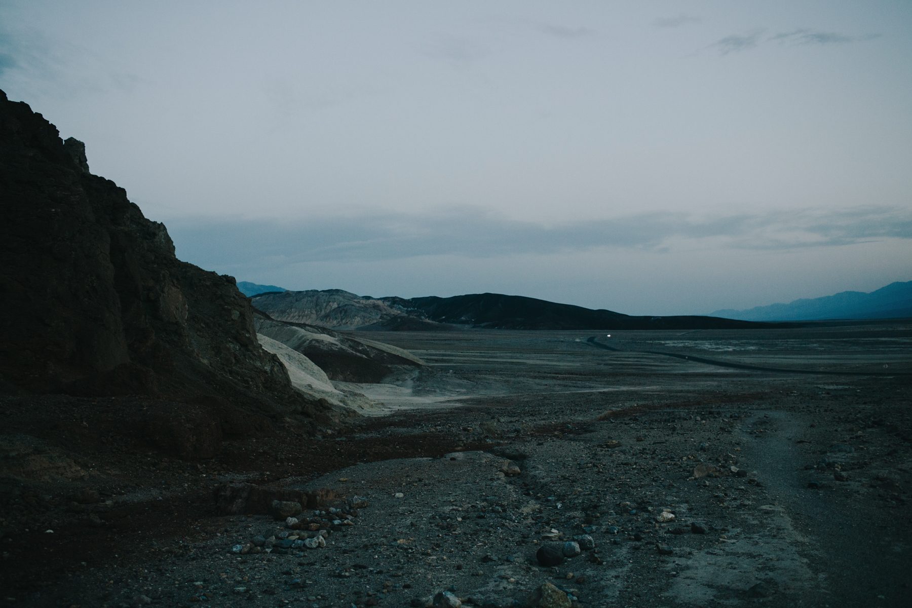 Death Valley after sunset