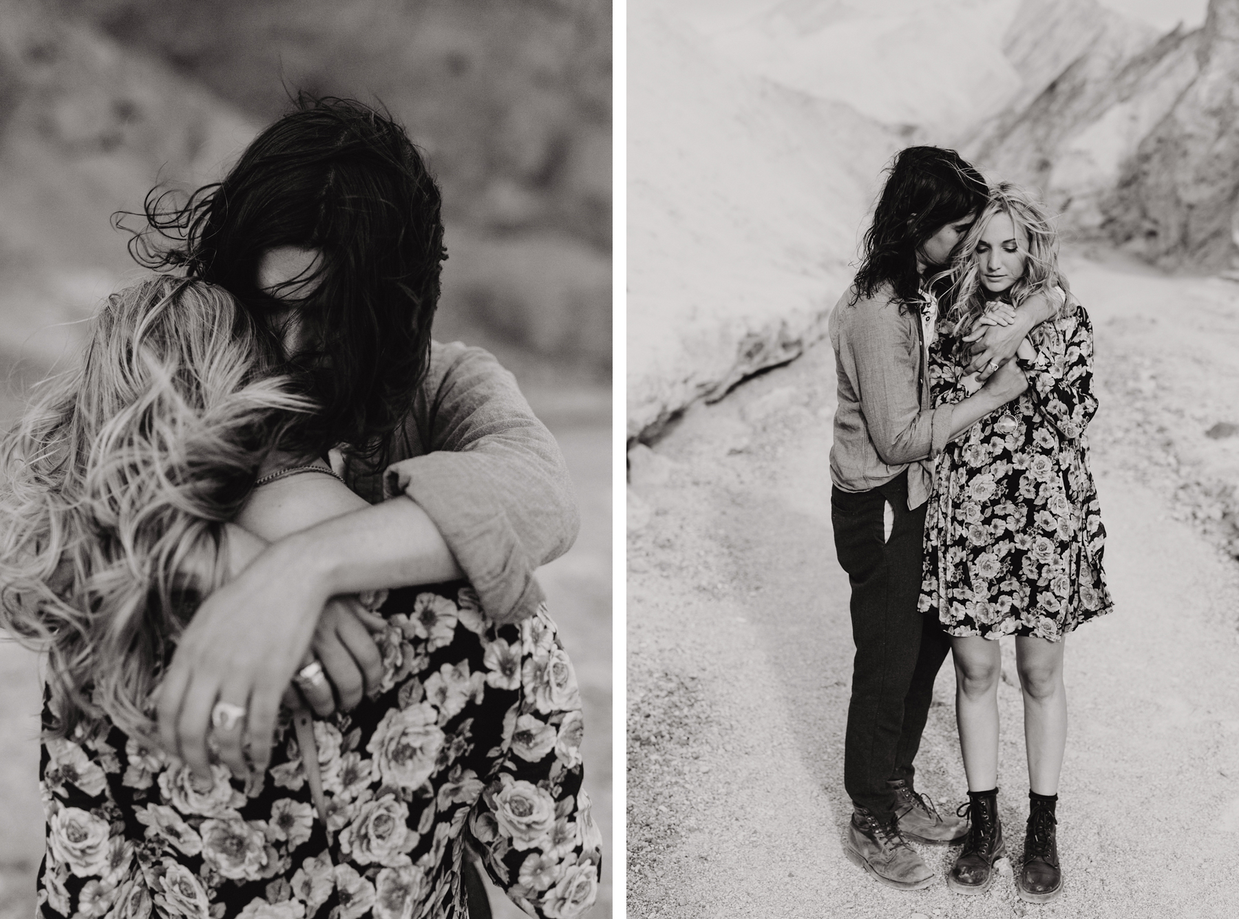 Couples photo session in desert