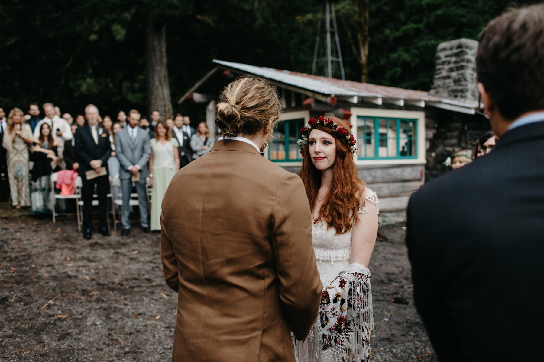 campsite wedding