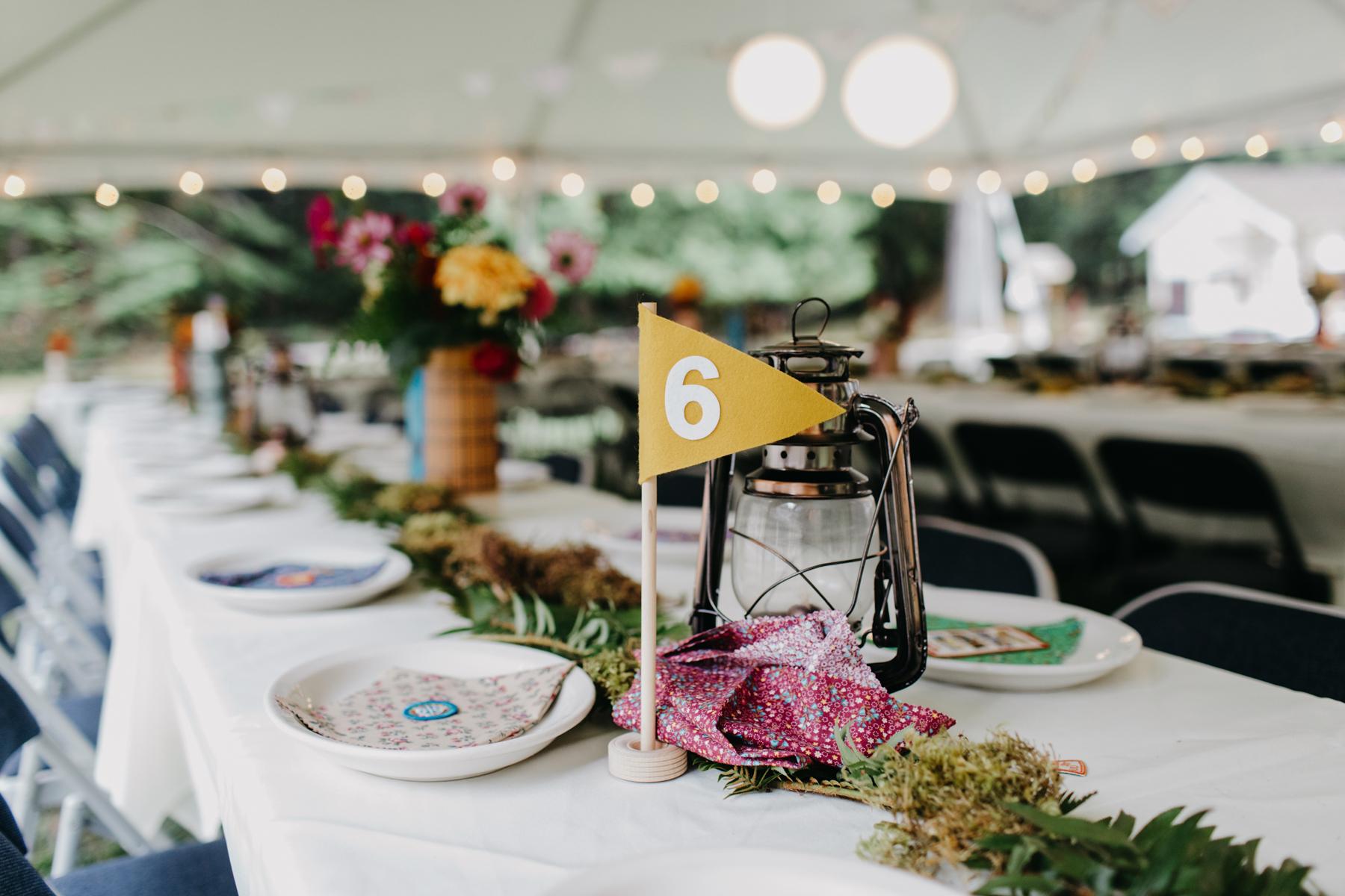 lake crescent wedding details