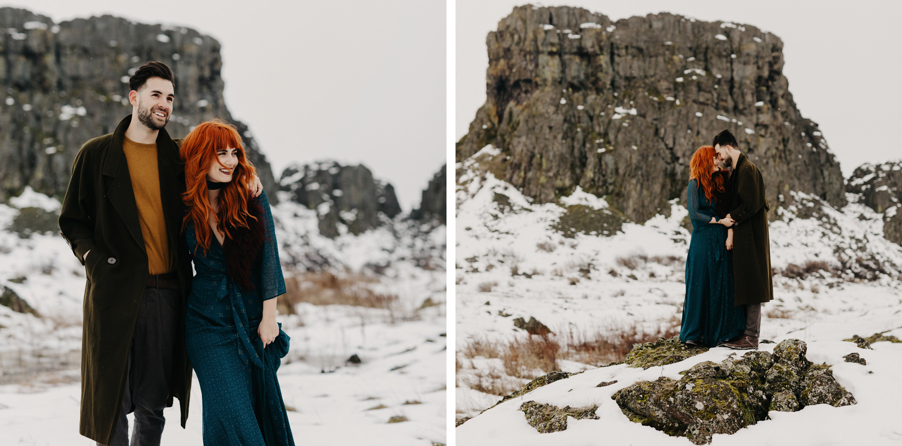 Snowy Engagement Photos