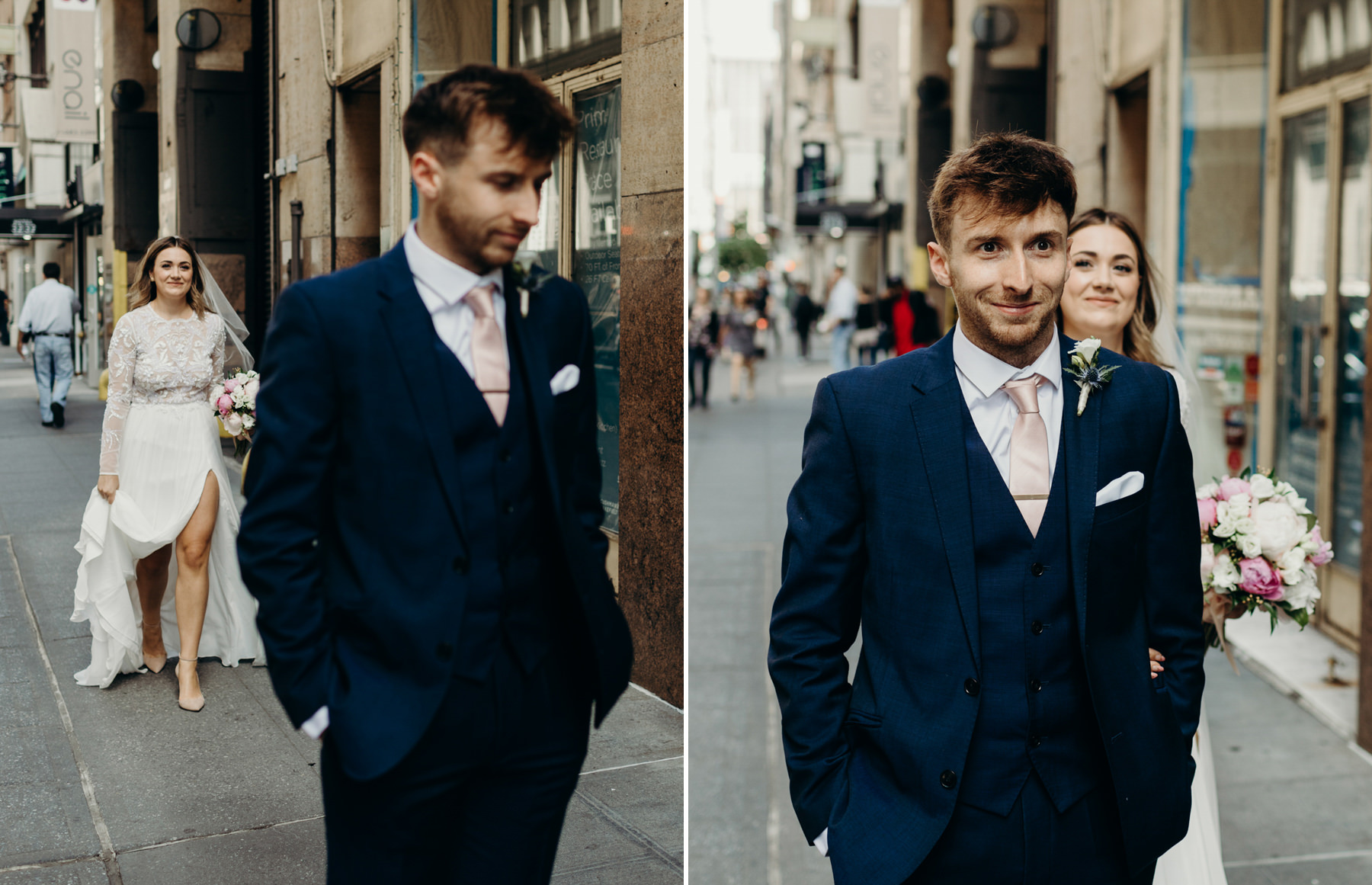 Wedding first look in Manhattan